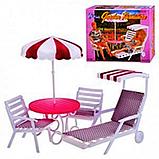 Кукольная мебель Глория Gloria 3920 Садовая мебель Пикник или Дача, фото 3