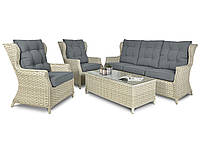 Ротанговый набор  BILBAO MELANGE WHITE диван 3-х местн.+кресла+стол