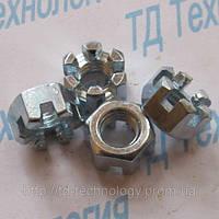 Гайки шестигранные прорезные с уменьшенным размером под ключ ГОСТ 2528-73