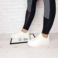 Кроссовки женские белые форсы низкие с перфорацией, фото 1