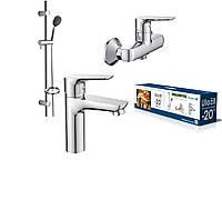 Набор смесителей в ванную 3 в 1 Imprese kit20082
