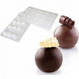 """Силиконовая форм для выпечки и заморозки """"Truffles 3D Small (трюфель 3 D маленький)"""""""