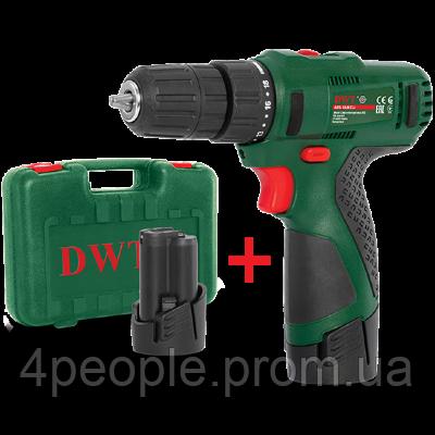 Аккумуляторный шуруповерт DWT ABS-12 СLi-2 BMC, фото 2