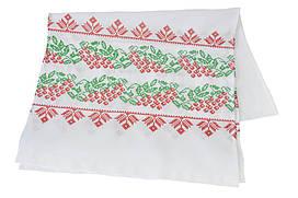 Вышитый рушник «Калина» красно-зеленая