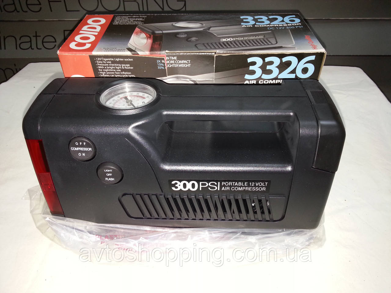 Автомобильный компрессор Coido 3326 , 12В, 20 атм