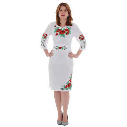 Женское льняное платье вышиванка Соломия, фото 2