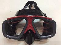 Маска для подводного плавания INTEX красно/черная, фото 1