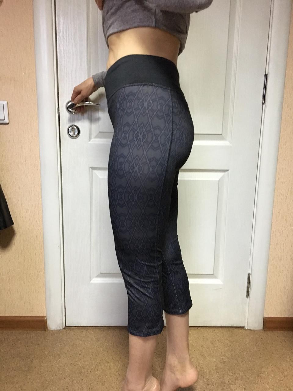 Женские утягивающие лосины для йоги,бега,спорта серые c&a