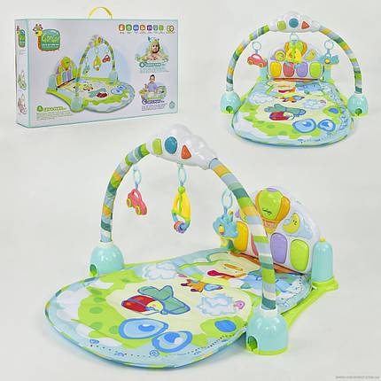 Коврик для младенцев 8869 В музыкальный, с погремушками, фото 2