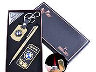 Подарочный набор брелок/ручка/зажигалка  BMW или Mercedes-Benz (Турбо пламя)
