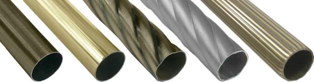 Трубы(штанги) и соединители для карнизов (25 мм.)