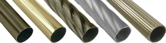 Трубы(штанги) и соединители для карнизов (19 мм.)