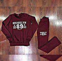 Женский спортивный костюм Brooklyn весна-осень (двунить) (цвет бордо) СП