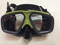 Маска для подводного плавания INTEX зеленая/черная