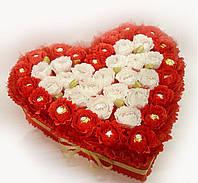 Сердце из конфет Рафаэлло Rafaello и Ферреро Роше Ferrero Rocher