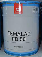 Полуглянцевая алкидная быстросохнущая краска Темалак, Tikkurila Temalac FD 50 18л. База TVL