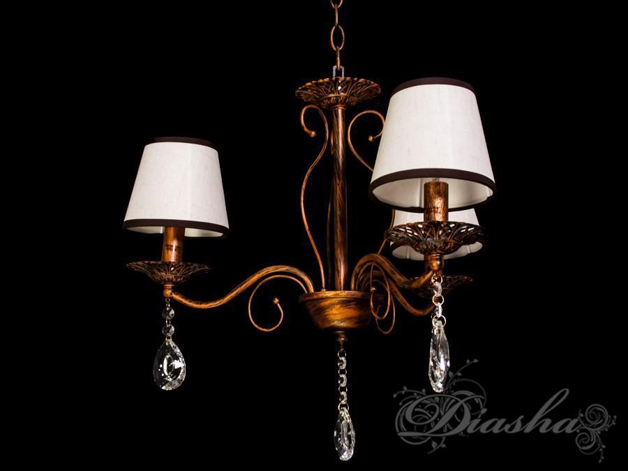 Недорога люстра з абажурами на 3 лампи 6226-3