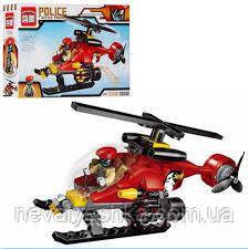 Конструктор Brick Enlighten Police BATTLE FORCE Вертолет Преступника, 111 дет., 1902, 006758 007422