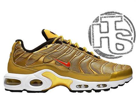 Мужские кроссовки Nike Air Max Plus QS Metallic Gold Red White 903827-700 c4280591295b7