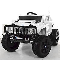 Детский электромобиль джип Hummer M 3570 EBLR-1, мягкие колеса и кожаное сиденье