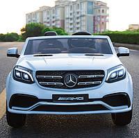 Детский двухместный 4-х моторный электромобиль Mercedes-Benz M 3565 EBLR-1, кожаное сиденье и мягкие колеса