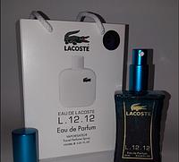 Мини парфюм Lacoste Eau De L.12.12 Blanc в подарочной упаковке 50 мл