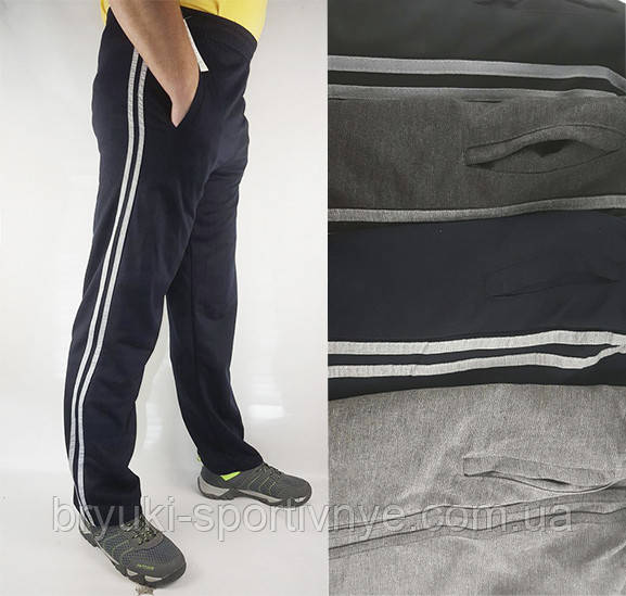 Штаны спортивные трикотажные 2 полосы