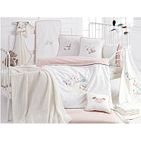 Детский набор в кроватку для младенцев Irya - Sleep кремовый (16 предметов)