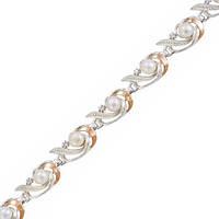 Серебряный браслет женский с золотыми пластинами арт. з026