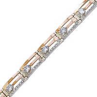 Серебряный браслет женский с золотыми пластинами арт. з033