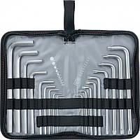 Набор ключей имбусовых HEX-TORX 18 шт HEX 1,5–10 мм T10-T50 CrV удлиненных с сатиновым покрытием MTX 123159