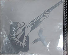 Виниловая наклейка ОХОТНИК ПТИЦА  34х31 см  2 цвета