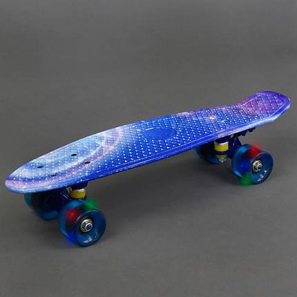 Скейт 930 (8) доска=55см, колёса PU d=6см, СВЕТ, фото 2