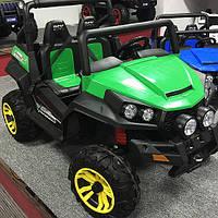 Детский 4-х моторный электромобиль джип Багги M 3454 EBLR-5, кожаное сиденье и мягкие колеса
