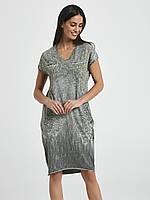 Повседневное летнее платье с карманами цвета хаки. Модель 250040 Enny