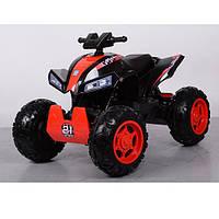 Квадроцикл детский M 3607 EL-2-3, свет, звук , mp3, красно-черный