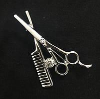 Брошь ножницы и расческа, фото 1