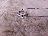Циркон кольцо двойное с цирконом в серебре 17 размер, фото 2
