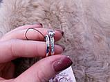 Циркон кольцо двойное с цирконом в серебре 17 размер, фото 7