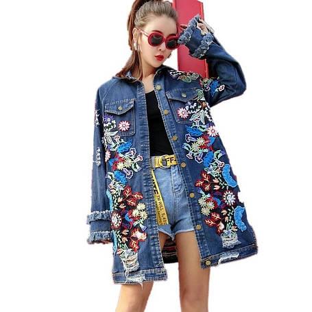 Женская куртка джинс, фото 2