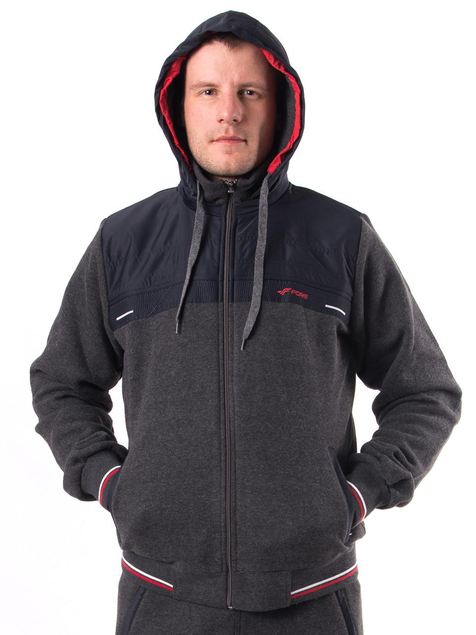 79b2efe43bf0 Теплый мужской спортивный костюм трехнитка т.м. Fore 5289 оптом и в  розницу, ...
