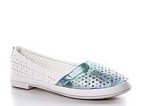 Детские балетки - туфли оптом. Детские туфли с перфорацией бренда Башили для девочек (рр. с 31 по 36)