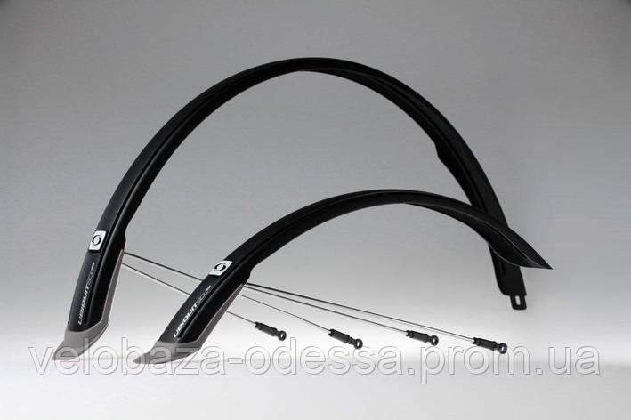 """Комплект крыльев 28"""" SIMPLA Ubiquit SDL 46mm, с брызговиками, чёрные, фото 2"""
