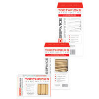 Зубные палочки PROservice 12201311 1000шт дерев в ПП оболочке