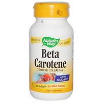 Nature's Way  , бета-каротин, 25 000 МЕ / Д. Салина, 100 мягких гелей