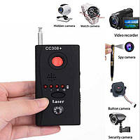 Бюджетный портативный детектор-обнаружитель скрытых камер видеонаблюдения (модель CC308+)
