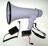 Рупор громкоговоритель мегафон с записью аккумулятор 30Вт HW-20B