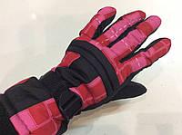 Перчатки горнолыжные р.L (8) (черные/розовые)