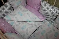 Детское постельное белье перья