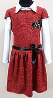 """Платье-обманка """"Оливия"""", ткань ангора, размеры 134-152, красный"""